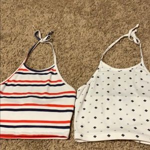 Cropped halter tops